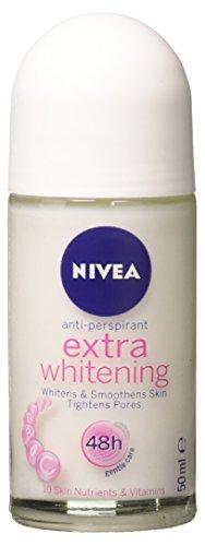 Nivea Extra Whitening Pore Minimizer Antiperspirant Deodorant Roll-on - 50ml X 3 Packs