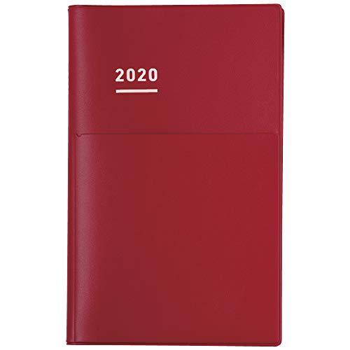 コクヨ ジブン手帳 Biz 手帳 2020年 A5 スリム マンスリー&ウィークリー マットレッド-JB1R-20 2019年 12月始まり