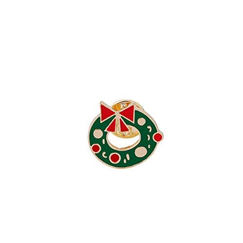 BBLLBrosche Nette Weihnachtsbaum Stiefel Weihnachtsmann Jingle Bell Brosche Cartoon Emaille Pins Für Frauen Winter Revers Abzeichen Schmuck GeschenkBlume