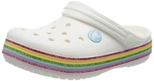 Crocs Rainbow Glitter Clog 206151-100; Kinder badelatschen; Weiß; 30/31 EU (13 UK)