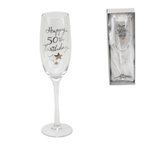 Juliana Happy 50th Birthday Champagne Glass Flute in Gift Box G31850