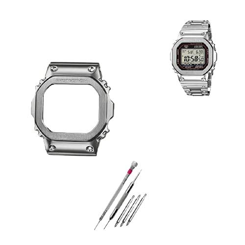 【ジーショック DW-5600 GW-M5610 G-5600 G-5000用】MY MODEL24 CASIO G-shock腕時計 社外互換品 ステンレスケース (5600, シルバー)