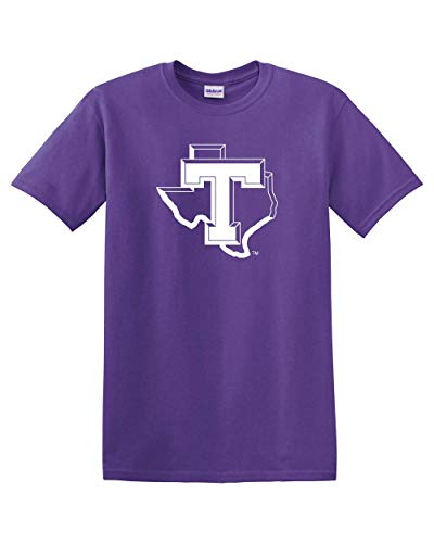 CreateMyTee | Tarleton T Logo T-Shirt | TSU Texans Apparel Mens/Womens T-Shirt (Purple, Small)