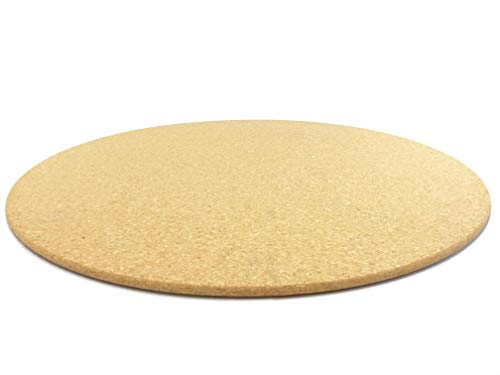 Pinnwand aus Kork RUND Ø 60cm | 10mm Stark | Hochwertige Korkplatte | Geeignet als Pinnwand, Modellbau oder als Bastel-Unterlage, in verschieden Farben erhältlich (Natur)
