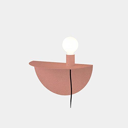 Appliques murales en fer à la mode, Applique murale minimaliste moderne LED pour enfants Nordic Living Room Allée Table murale (Color : Pink)