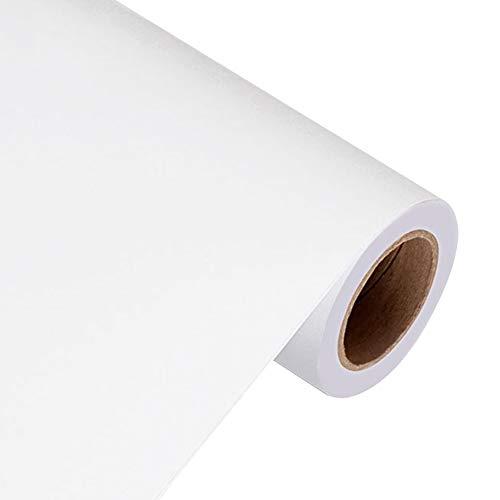 Adhesivo de vinilo mate para muebles, cocina, dormitorio, 3 m, Yizunnu, pvc, blanco, 61x300cm