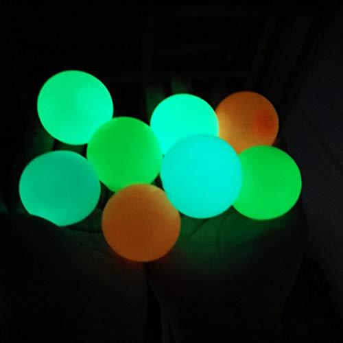 Kooshy 8 Piezas Sticky Globbles Ball Stress Toys, Fluorescente Sticky Wall Ball Stress Reliever Wall Balls Descompresión para Adultos Niños