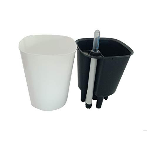 SM SunniMix Hochwertige Pflanzkübel Pflanztopf Blumentopf Blumenkübel mit selbstbewässerung Funktion - Weiß