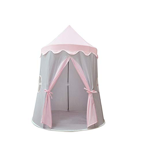 Tents Blue Play, Pink Girl's Dream Castle for Children, Yurt Indian Teepee with Carry Bag - 5 Year Old Child (Color : Pink, Size : 110 * 110 * 140CM)
