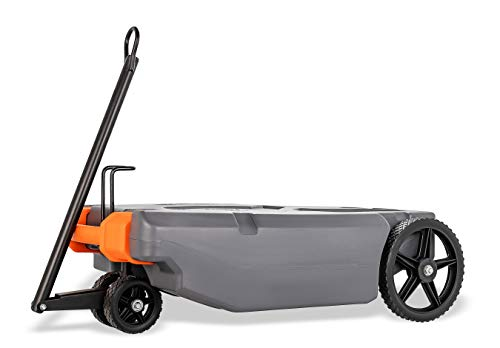 Camco Rhino RV Heavy Duty 28 Gallon Portable Waste Holding Tank with Steerable Wheels | Complete Kit with Hoses and Accessories (39005)