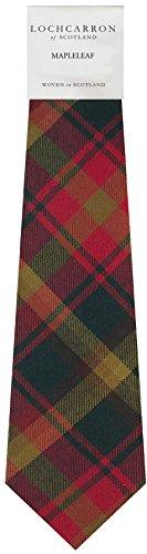 I Luv Ltd Gents Neck Tie Maple Leaf Canadian Tartan Lightweight Scottish Clan Tie