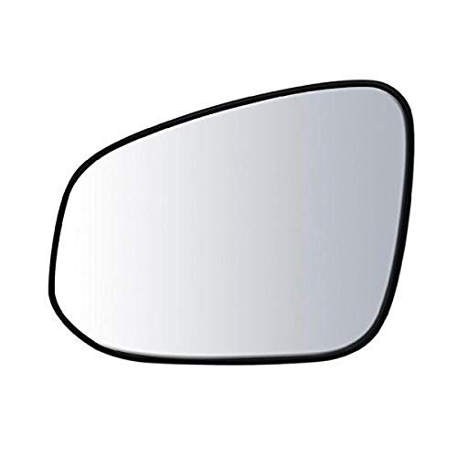 """Driver Side Non-Heated Mirror Glass w/Backing Plate, Toyota RAV4 13-18, 6"""" x 7 3/4"""" x 8 7/8"""" (w/o Blind Spot Detection System)"""