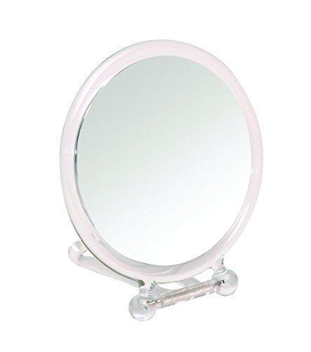 Gerson Miroir Transparent Face à Main/A Poser Grossissant x 10 Diamètre 14 cm Haut 26Cm
