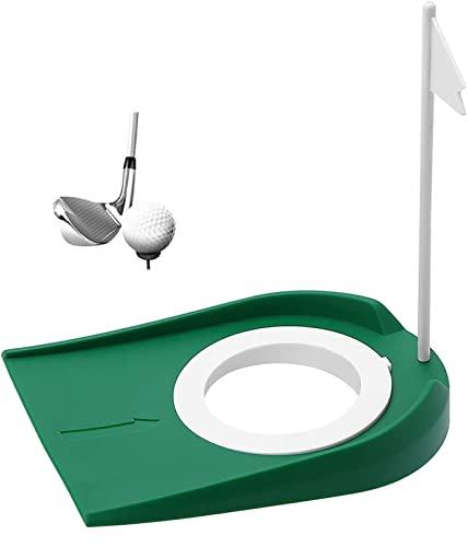屋内屋外オフィスの庭のための穴と旗のプラスチックとカップマットを置くゴルフ練習
