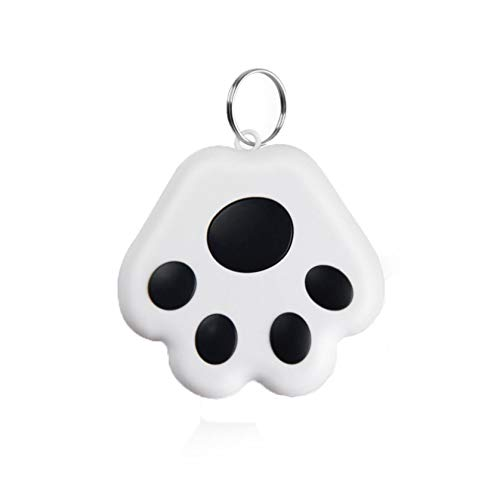 Mini Cat/Dog GPS Tracking Locator,Portable Bluetooth Tracker Intelligent Anti-Lost Tracker Device for Wallet/Kid/Pet Bluetooth Alarms Cute Claw Shape (Black)