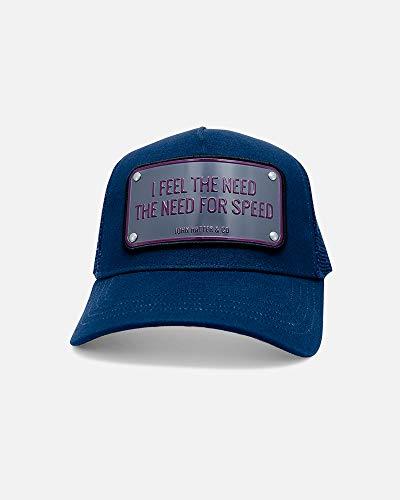 Boné ajustável John Hatter & Co I Feel The Need The Need for Speed azul-marinho