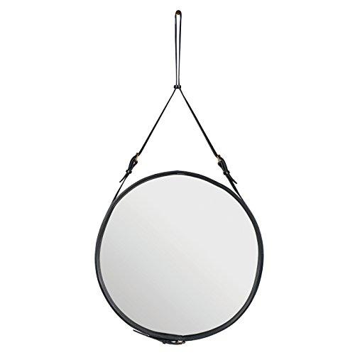 Adnet Spiegel Ø45 cm, dunkelgelb/hellbraun