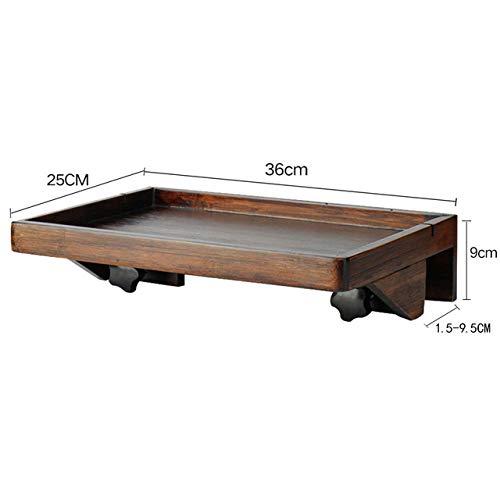 Nachtkastje LKU Nachtkastje nachtkastje creatieve dienblad houten frame nachtkastje mobiele plank creatief, walnoot kleur