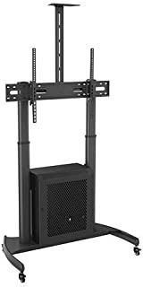 Rife Mobile TV Trolley Stand with Mount for LED LCD Plasma Flat Panel Screens and Displays 32'' to 65 inch (TV Trolley wit...