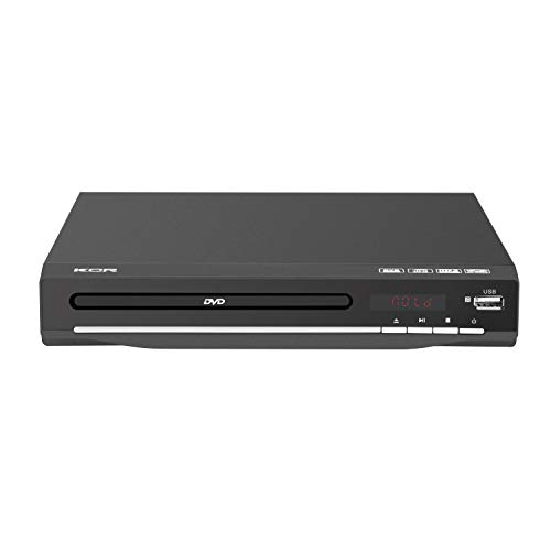 Reproductor de DVD KCR para TV, DVD / CD / MP3 / AVI con conector USB, salida HDMI y AV (cable HDMI y AV incluido), control remoto, para todas las regiones