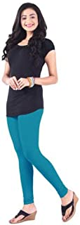 Sant Heartland Pure Cotton Churridar Legging-COLOR- (Blue Coracao) Pack of 1 Free Size