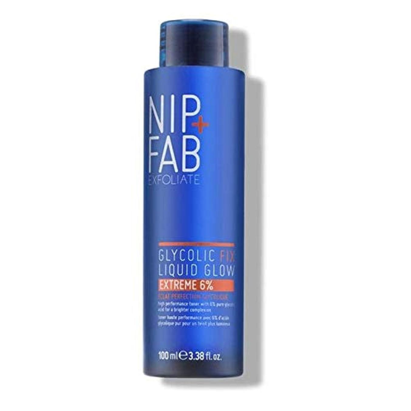下線ドロップ石膏[Nip & Fab ] + Fabグリコール修正液グロー6%の100ミリリットルニップ - Nip+Fab Glycolic Fix Liquid Glow 6% 100ml [並行輸入品]