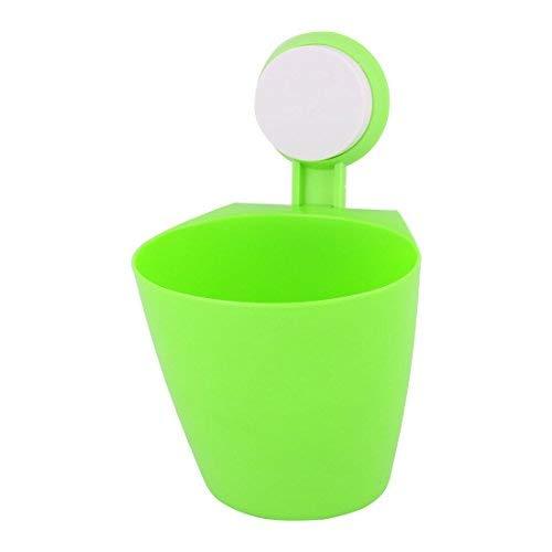 DealMux Plastic Home Kitchen Multifunktions-Saugnapf Schlüssel Kugelschreiber Kleinigkeiten Aufbewahrungshalter Grün