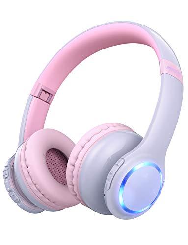Mpow CH9 Auriculares para niños para niños, Adultos con micrófono en línea Volumen Incluido Bolso de Tela Auriculares Plegables con Enchufe de 3.5 mm Cable extraíble