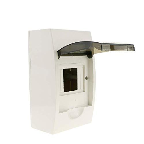 BeMatik - Caja de distribución eléctrica SPN 4M IP40 de superficie de plástico ABS