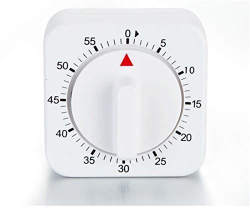60 Minuten Küchenuhr Count Down-Alarm Erinnerung White Square Mechanische Timer for Küche (Color : White)