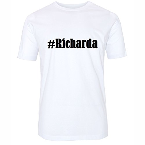 T-Shirt #Richarda Größe M Farbe Weiss Druck schwarz