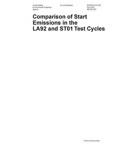 Comparison of Start Emissions in the LA92 and ST01 Test Cycles (English Edition)