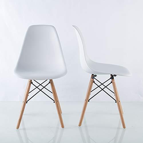 T-ara Suave y Confortable White Worthy para restaurantes, Conjunto de Cuatro Piezas, piernas y Silla de Comedor con Silla premontada Minimalista Avanzada diseño de Moda