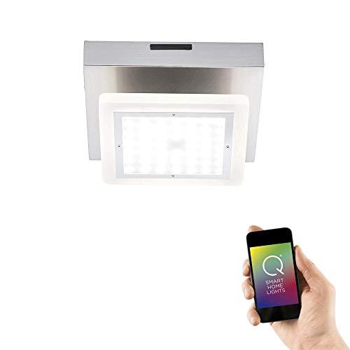Paul Neuhaus 6555-55 Q-GLIDO LED plafondlamp Smart Home Alexa, RGB kleurverandering, afstandsbediening dimbaar, warm wit of kleurverandering