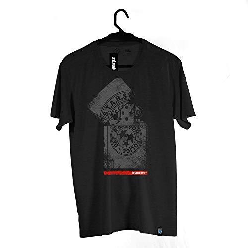Camiseta Isqueiro, Resident Evil, Masculino, Preto, PP