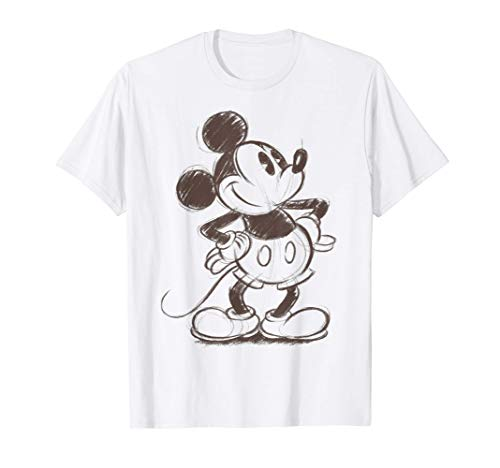 Disney Mickey And Friends Mickey Mouse Sketch Maglietta