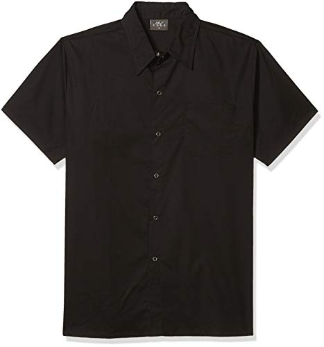 Chef Code Men's Kitchen Basic Cook Shirt, Black, Large