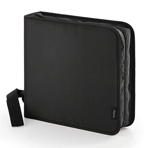 Pazzimo Porta CD para 208 Discos de DVD/CD/BLU-Ray - Estuche Organizador transportable para Guardar CDs con Fundas Protectoras - Negro
