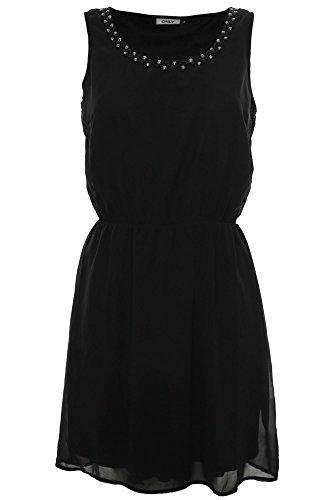 ONLY Damen onlBERIT Dafne S/L Short Dress WVN Kleid, Schwarz (Black), (Herstellergröße: 40)