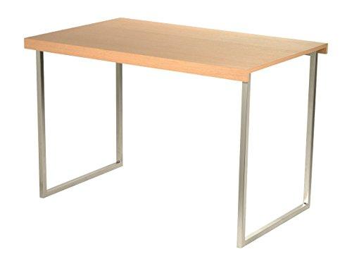 Butterfly Mesa de centro y comedor de diseño en acero cromado mate y sobres de madera roble natural, 4 posiciones distintas, acabados alta calidad