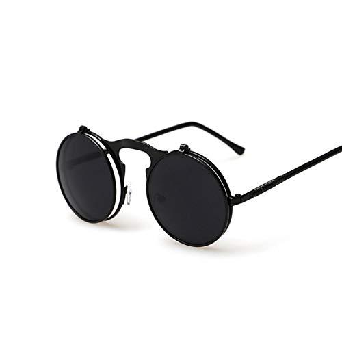 Sunglasses Gafas de Sol de Moda Gafas De Sol Redondas Vintage Hombres Mujeres Diseñador De La Marca Steam Punk Coating C