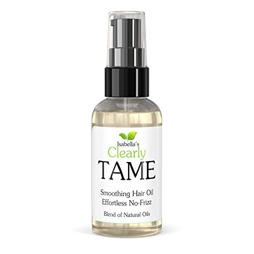 Clearly TAME Anti Frizz Smoothing Hair Oil | Natural Lightweight Serum for Smooth Frizz Free Hair with Castor and Rosemary | Sulfate Free | Control Frizz and Add Shine for Curly, Frizzy, Dry Hair.