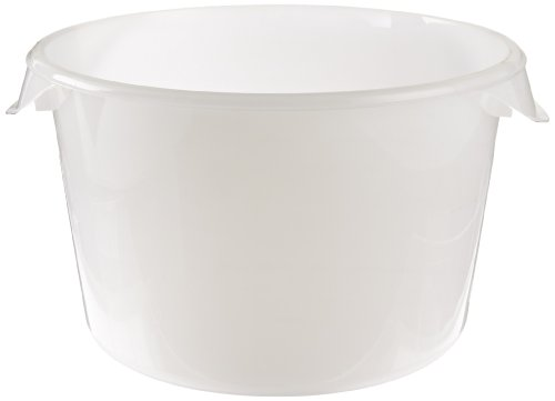 Best Deals! Rubbermaid Commercial Products Plastic Round Food Storage Container for Kitchen/Food Pre...