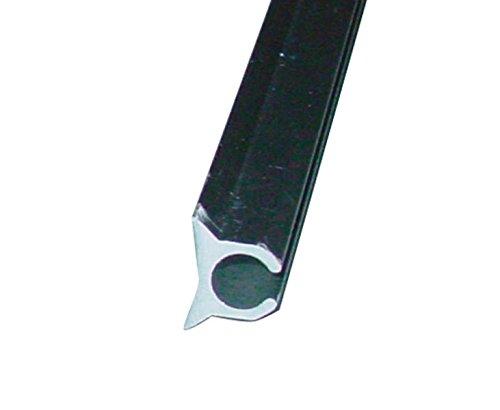 (8,75€/m) 2x Kederschiene einfach für Keder von 6-9mm, 2m , Alu eloxiert.