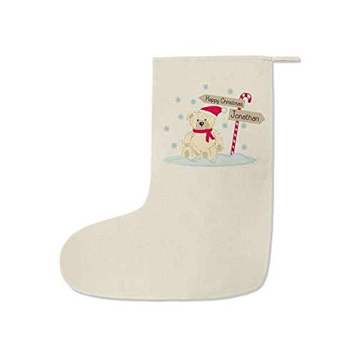 Candy Cane Ours Chaussette