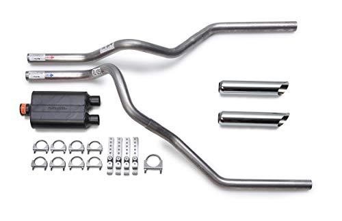 Flowmaster Super 44 Mandrel-Bent Aluminized Dual Truck Exhaust Kit w/Chrome Tips...