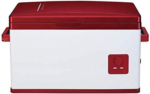 Guisee Refrigerator 30L Auto Frigorifero Auto compressore Frigorifero Piccolo Frigorifero Auto e insulina Domestico riscaldatore Portatile Frigorifero e Scatola Fredda 12V / 24V / 220V 0707
