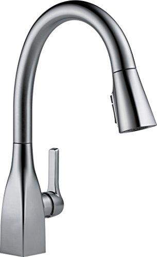 Delta Faucet Mateo Single-Handle Kitchen Sink Faucet with Pull Down Sprayer, Shield Spray Technology and Magnetic Docking Spray Head, Arctic Stainless 9183-AR-DST