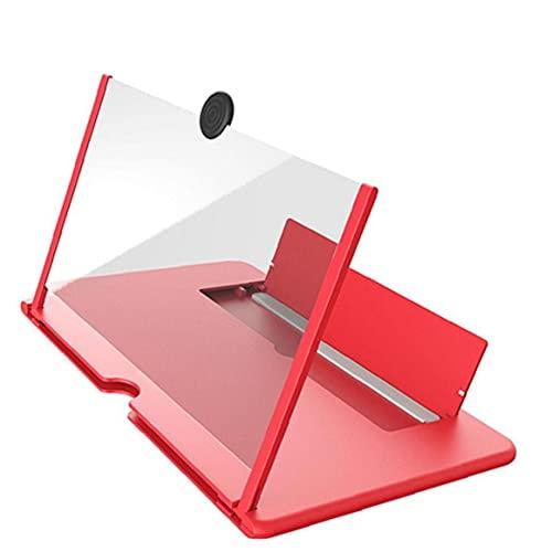 Ruluti Pantalla del Amplificador De Teléfono Celular Efecto Pantalla Grande con Soporte De Escritorio Plegable De Lupa para Juego De Películas