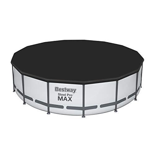Bestway Flowclear PVC-Abdeckplane D:470 cm, grau, für Steel Pro MAX Pool D:457 cm